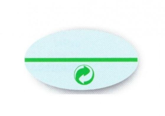 étiquette antivol logo point vert